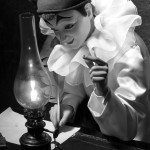 Automate Pierrot-écrivain au musée CIMA à Sainte-Croix (VD)