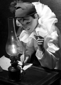 Automate Pierrot-écrivain au musée CIMA à Sainte-Croix (VD). Crédit photo: Schaffner & Conzelmann